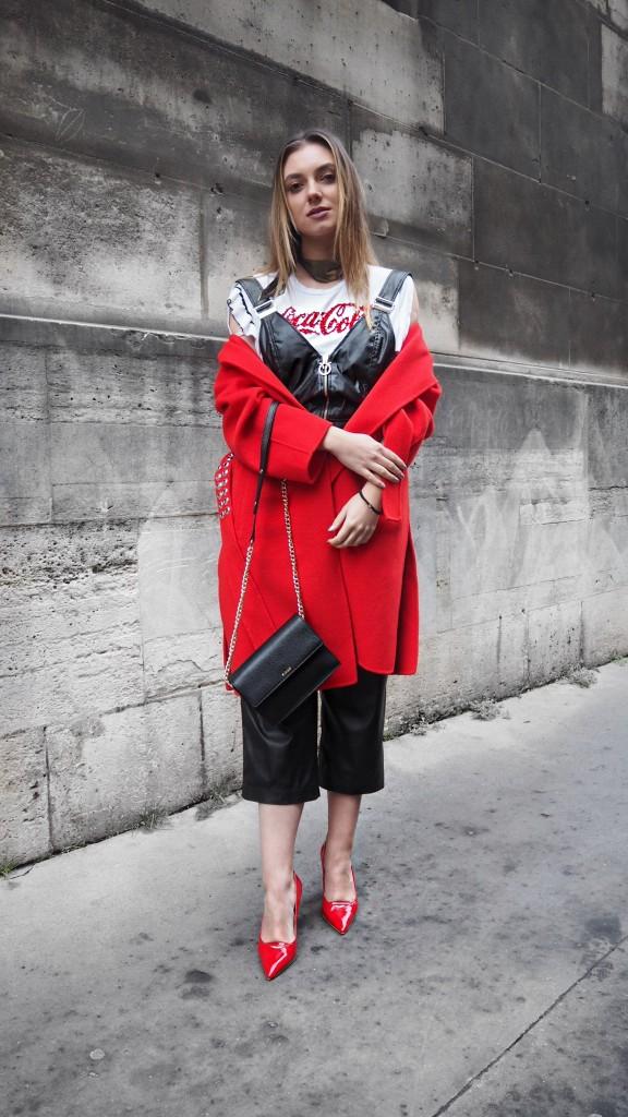 Pinko.Street Style Couture Fashion Week Paris. Andreea Cristea